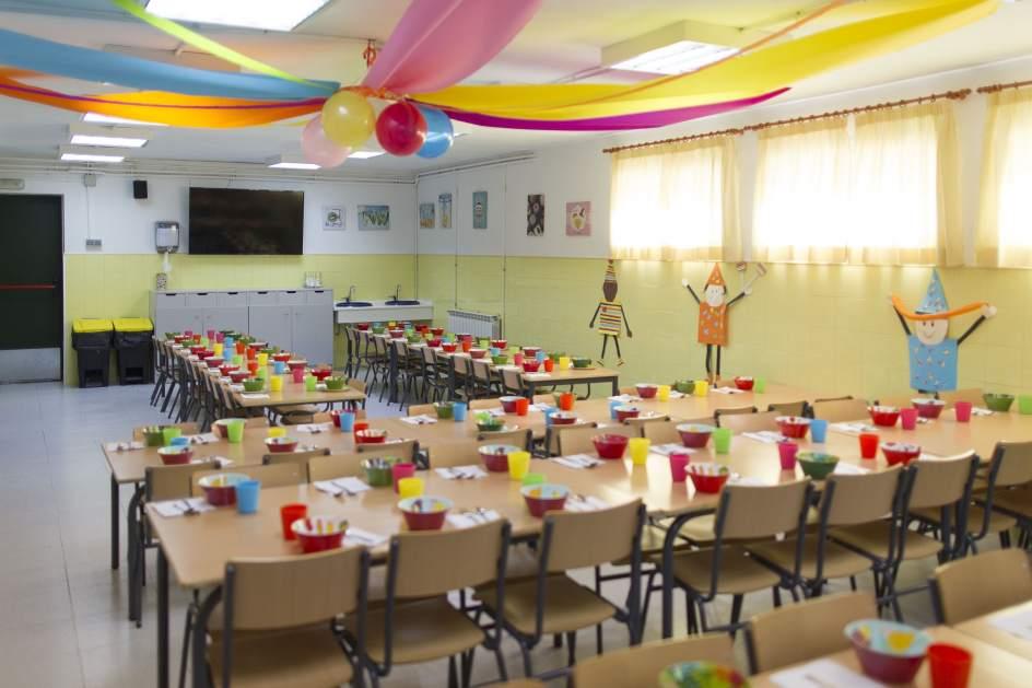 Las solicitudes para el servicio de comedor escolar y las for El comedor escolar