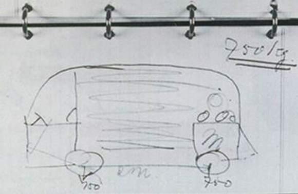 El importador holandés Ben Pon tuvo la idea de la mítica furgoneta Volkswagen cuando paseaba por los terrenos de la fábrica.