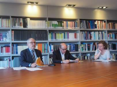 Rafael Ribó, Síndic de Greuges, presentant l'Informe Sobre L'oci Nocturn I La Convivència Ciutadana.