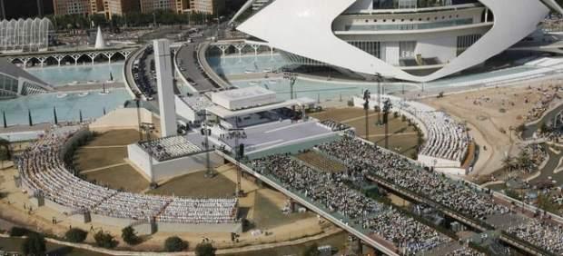 Altar para la visita del papa
