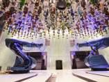 Robots que sirven cócteles en el crucero Harmony of the Seas