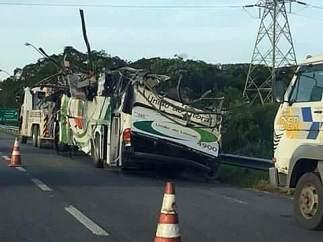 Accidente de autobús en Brasil