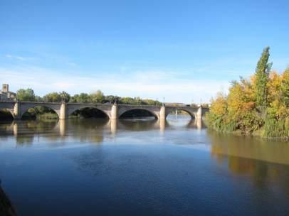 Río Ebro a su paso por Logroño