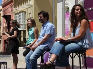 Acto de Podemos Cádiz, con Rafael Mayoral
