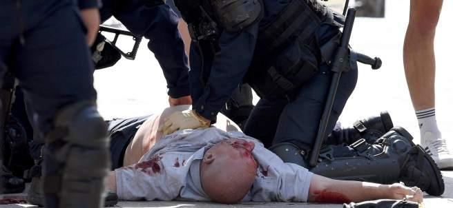 'Hooligan' herido en Marsella