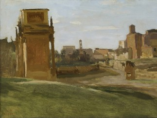 Jean-Baptiste-Camille Corot (1796-1875). The Arch of Constantine and the Forum, 1843