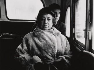 Diane Arbus - Lady on a bus, N.Y.C. 1957