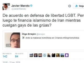 Tuit de Javier Maroto