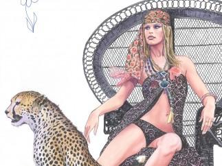 Bardot - Milo Manara - Aquarelle sur papier