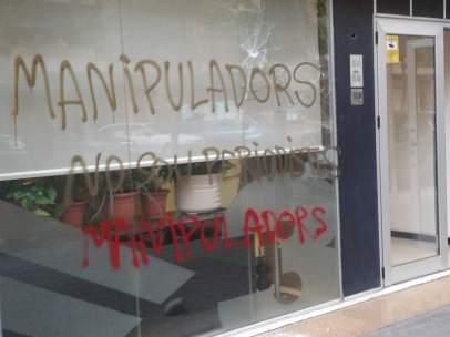 Ataque a la sede de TV3 en Lleida