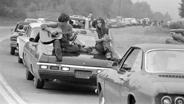 Baron Wolman - Sin título, peregrinando hacia Woodstock