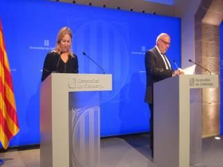 Los consellers de Presidencia, Neus Munté, y Empresa, Jordi Baiget