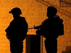 Patrulla nocturna en Cisjordania