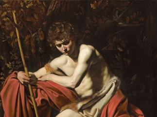 Michelangelo Merisi da Caravaggio - San Juan Bautista en el desierto, 1602