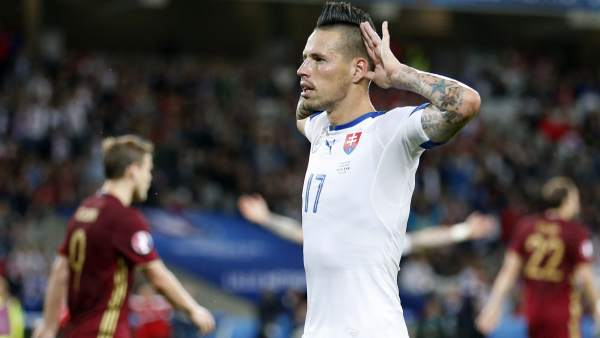Gol de Hamsik con Eslovaquia