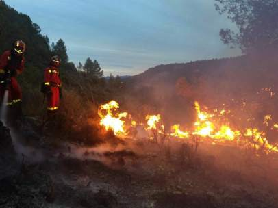 Incendio en Bolbaite (Valencia)