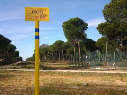 Gasoducto de Huelva a Sevilla a su paso por Doñana