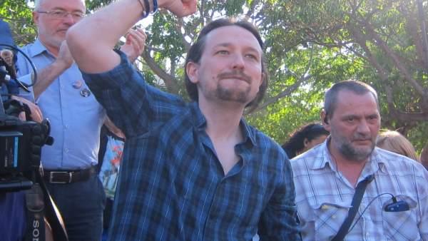 Candidato de Unidos Podemos, Pablo Iglesias, en Alicante