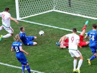 Gol de Hungría