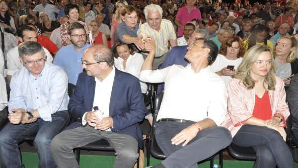 Acto electoral del PSOE en Zaragoza