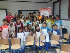 Taller de Salmorejo en la Escuela en Fuente Obejuna (Córdoba)