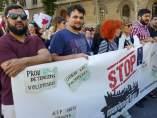 Manifestación en Barcelona por los refugiados