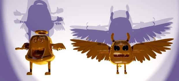 Los don angelitos en 3D para dar a conocer la situación de la Capilla San José