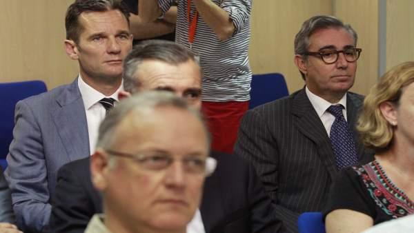 Iñaki Urdangarin en el juicio por el caso Nóos