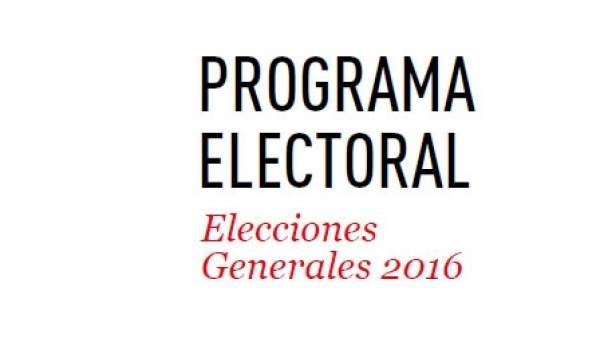 Programa electoral del PSOE