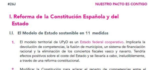 Programa electoral UPyD