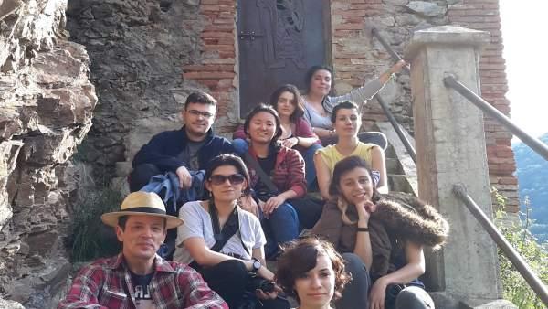 Participantes en primera Residencia de Artistas de San Millán