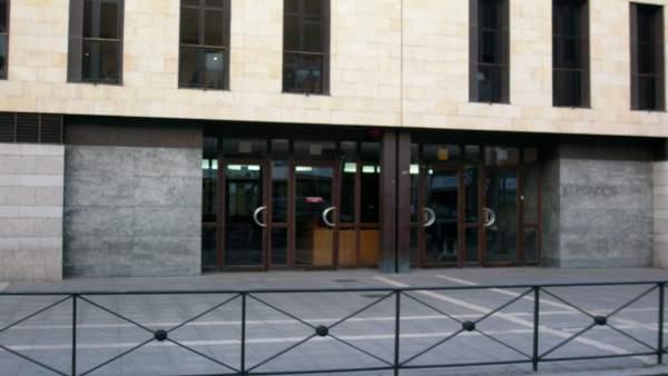 Edificio de los Juzgados, en la calle Angustias de Valladolid.