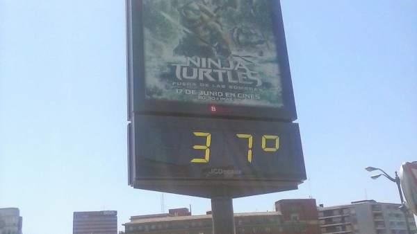 Termómetro a 37 grados en Bilbao