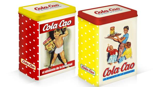 Latas vintage de Cola Cao.