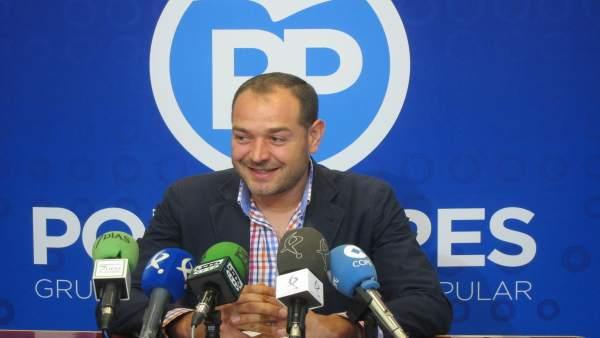 Francisco Javier Ramírez en rueda de prensa sobre la DIA de Aguablanca