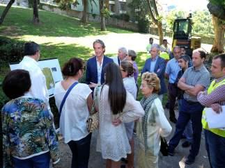Inicio de las obras del parque de Menéndez Pelayo