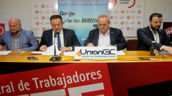 Representantes sindicales de la UniónGC.