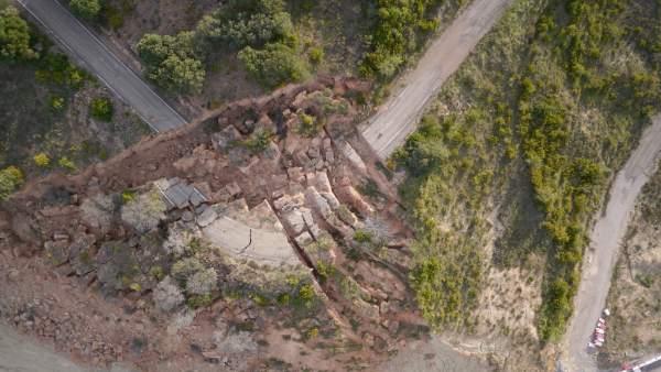 Deslizamientos en la carretera de Los Pintanos