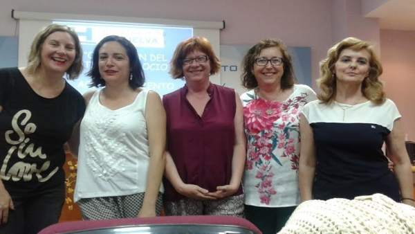 Auxiliares del servicio de ayuda a domicilio de la Diputación de Huelva.