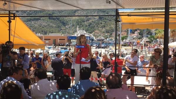 Palmer en acto electoral en Port de Sóller