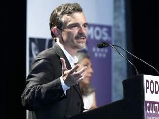 José Manuel López presenta el programa cultural de Podemos