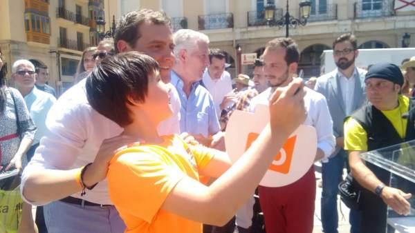 Rivera en Logroño