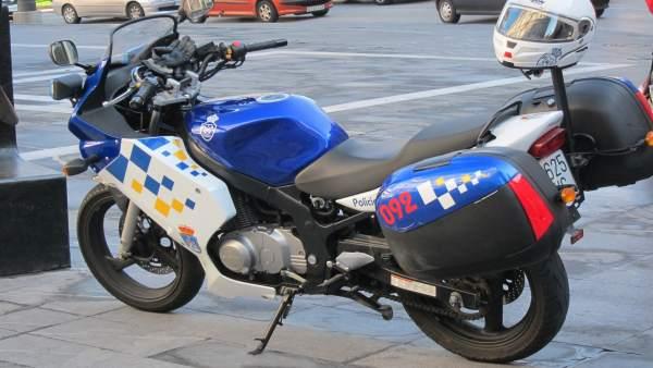 Moto De Policía Local De Oviedo