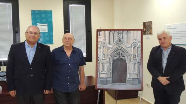 Alfonso Aramburu dona un cuadro a Atlantic Copper