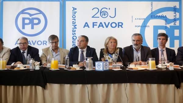 Elías Bendodo en un acto en Marbella (Málaga)