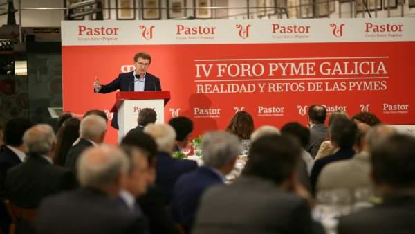 El presidente de la Xunta, Alberto Núñez Feijóo, en el foro