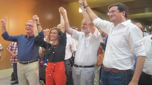Meritxell Batet, Josep Fèlix Ballesteros, Óscar López, Joan Ruiz, PSC
