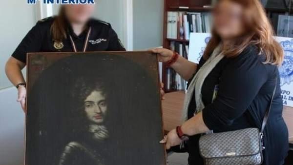Obra de arte valorada en 100.000 euos recuperada por la Policía