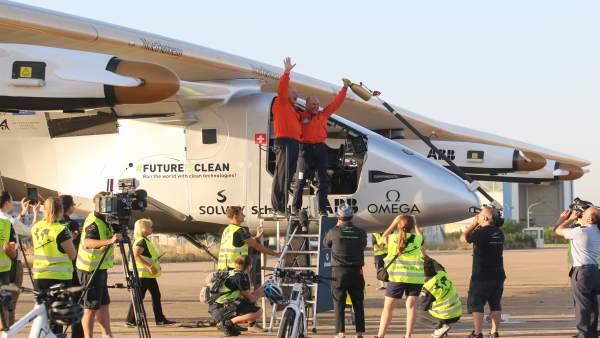 Llegada del avión Solar Impulse II a Sevilla.