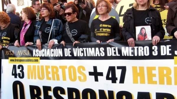 Protesta de la AVM3J en imagen de archivo